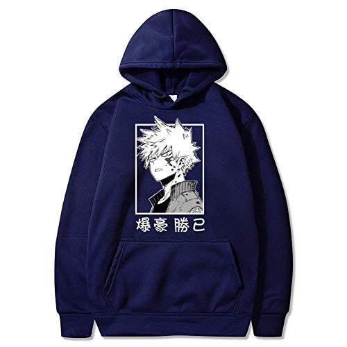 xinghui Sudadera con Capucha de Anime Riman suéter con Capucha para Hombres y Mujeres Cazadores a Tiempo Completo-Azul Marino 1279_XXXL