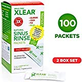 Xlear Natural Neti Pot Sinus Rinse Refill Packets, Sinus Relief Saline Nasal Rinse with Xylitol (100...