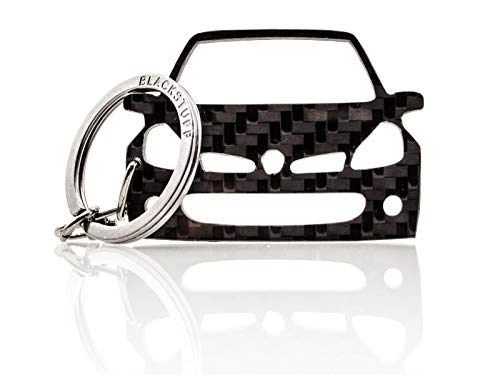 BlackStuff Portachiavi in Fibra di Carbonio Compatibile con Clio III Sport RS 2005-2012 BS-828