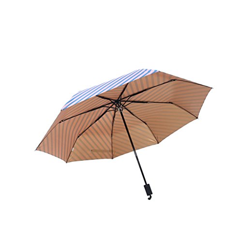 XiuHUa Compact Travel Paraplu-Vouwende Zonnescherm UV Creatieve Navy Wind Vouwen Paraplu stand