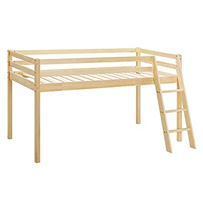 Home Detail Children's Wooden Mid-Sleeper Bunk Bed Kids Cabin Bed Frame with Ladder