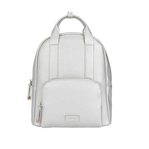 Parfois - Charmanter Rucksack Mit Außentasche - Damen - Größe L - Silber