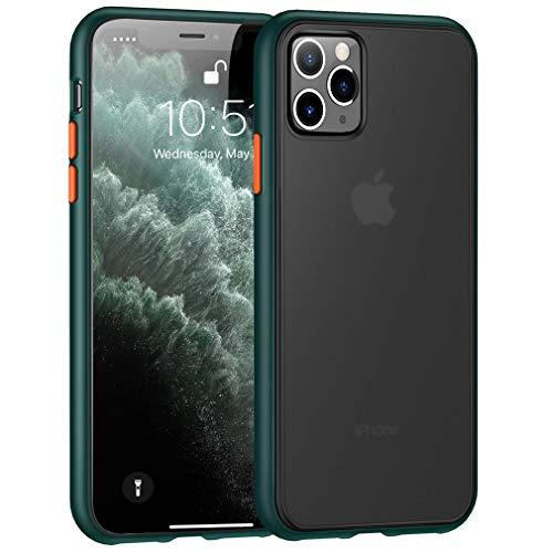 BENKS Funda para iPhone 11 Pro MAX Mate Carcasa Trasera Transl/úcida con Carcasa Parachoque Suave 6,5 Pulgada Anti- Choques y Anti- Ara/ñazos Tel/éfono Caso para Apple iPhone 11 Pro MAX Blanco