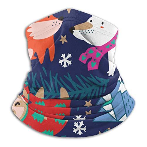 Whimsical Forest met winter fleece nek Warmer Heat Trapping Sun-proof Neck Gaiter Tube Soft Elaststic Balaclava Half Mask Unisex Windproof Ski Neck Gaiter Cover voor winter Skiing Run
