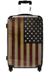 Hardside Spinner Luggage - American Vintage Flag Design