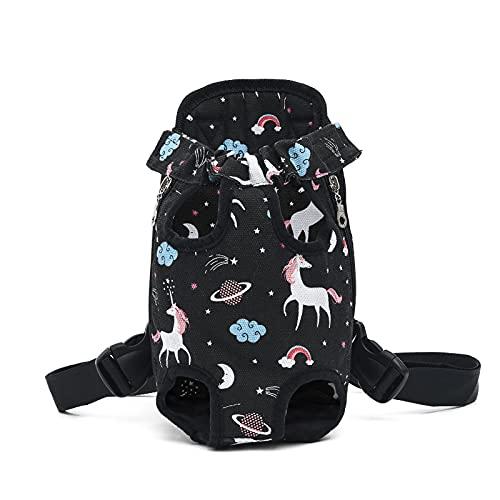 MGJX - Zaino per animali domestici e gatti di piccola taglia e media regolabile, leggero e traspirante, borsa da viaggio per animali domestici