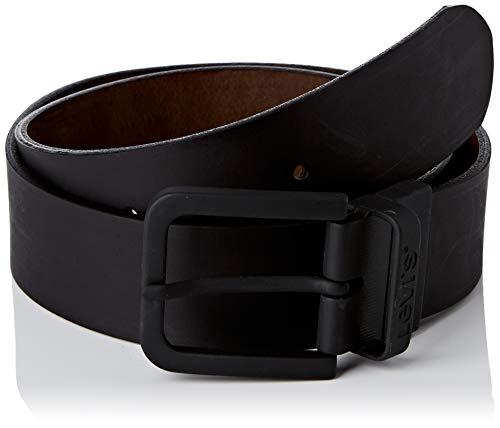 Levi's Reversible Core Metal Belt Cintura, Black, 100 Unisex-Adulto