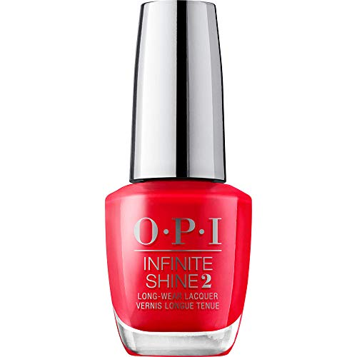 OPI Infinite Shine 2 Long-Wear Lacquer, Cajun Shrimp, Red Long-Lasting Nail Polish, 0.5 fl oz