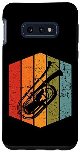 Galaxy S10e Retro Tuba Player Gift Musician Tubist Vintage Tuba Case