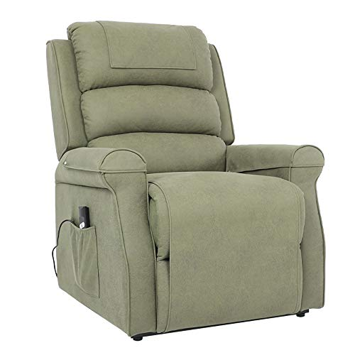 Five Stars Furniture Power Lift Recliner Chair Electric Sofa Microfiber Fabric Living Room Bedroom Chair with Side Pocket,Remote Control for Elderly (Sage)