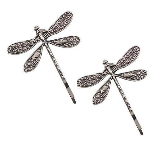 2 uds horquillas Retro con libélula, pinzas para el cabello