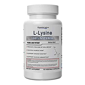 Superior Labs – Best L-Lysine NonGMO – Dietary Supplement –500 mg Pure Active L-Lysine – 120 Vegetable Capsules – Supports Calcium Absorption – Immune System & Respiratory Health Support
