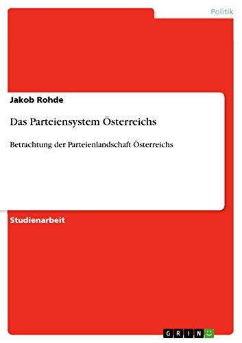 Das Parteiensystem Österreichs: Betrachtung der Parteienlandschaft Österreichs
