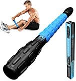 Muscle Roller Leg Massager - Best Massage Roller Stick for Athletes - Deep Tissue - Trigger Points, Cramps, Quads, Calf & Hamstring Tightness, Myofascial Release (BLU)