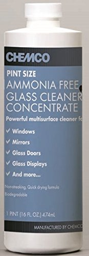 Chemco Ammonia Free Glass Cleaner Concentrate (Case of 6-16 oz)