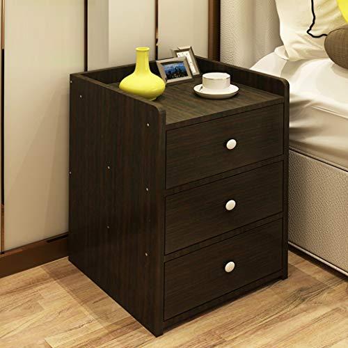 Yxsd Nachtkastje met 3 laden, voor de slaapkamer, voor het opbergen van het hoofdeinde, klein, eenvoudig, 48 x 26 x 35 cm