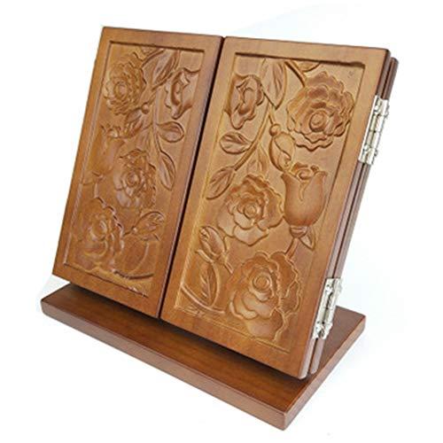 Vintage Massief Houten Make-upspiegel, Creatieve Opvouwbare Make-upspiegel, Draagbare Stand-alone Spiegel, Antieke Kleur