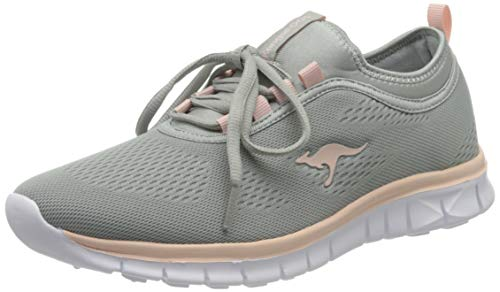 KangaROOS Damen K-Run Neo S Sneaker, Grau (Vapor Grey/English Rose 2043), 38 EU