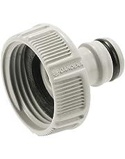 """GARDENA 18202-20A kraanaansluiting 33,3 mm (G 1""""): Aansluiting voor waterkranen met schroefdraad, waterdichte verbinding, eenvoudig te gebruiken, verpakt (18202-20)"""", 33,3 mm (g 1"""") ingepakt"""