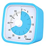 Yunbaoit 60-Minute Visual Countdown Timer, Time Management Tool for Kitchen, Office, School, Home, No Loud Ticking, Optional Alarm (Blue)