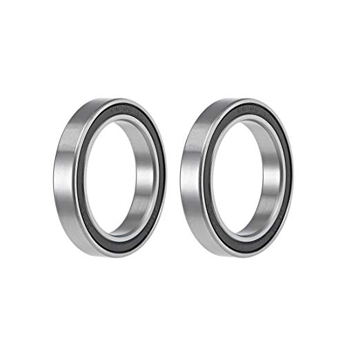 uxcell 6806-2RS Deep Groove Ball Bearings 30mm Inner Dia 42mm OD 7mm Bore Double Sealed Chrome Steel Z2 2pcs
