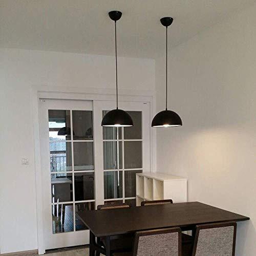 Kronleuchter Pendelleuchte Restaurant Küchentisch Halbrund Einzelne Romantische Atmosphäre Schwarz Single Head Einfache Installation Eisen Deckenleuchte (Color : Black)