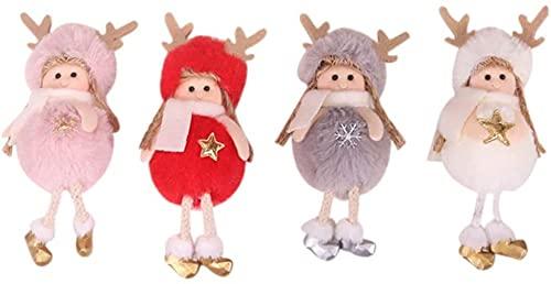 Enfeite de Natal decorativo de pelúcia criativo adorável presente decoração de mesa brinquedo adorno de boneca para festa de Páscoa Natal