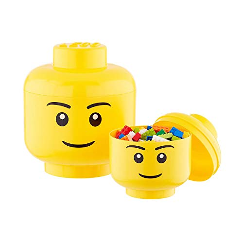 LEGO Storage Head (Large) -Boy, Yellow