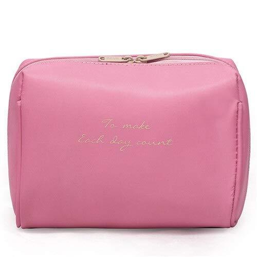Ohne Markenzeichen Femmes Sac cosmétique Voyage Make Up Sacs Solides Mode Femmes Maquillage Sac Organisateur Kits Sac de Toilette (Color : Pink)