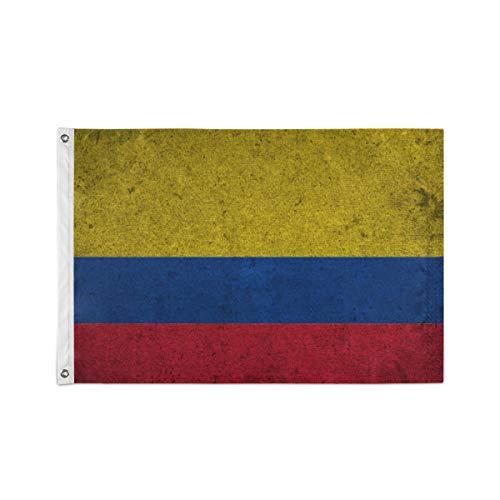 Colombia Vlag Op Een Oude Grunge Achtergrond
