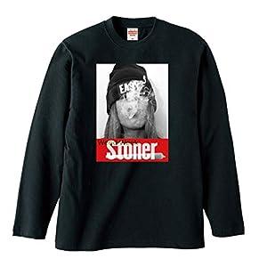 Lindwurm Tシャツ メンズ 長袖 ロングTシャツ レディース おしゃれ stoner ストーナー ジョイント weed week ガンジャ Kush ユニセックス プリントTシャツ ブラック XXL