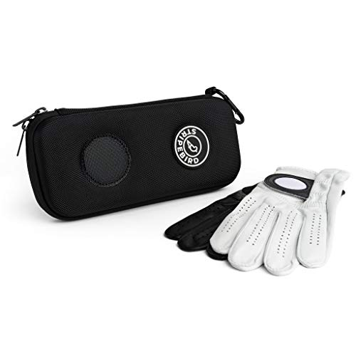 Stripebird - Golf Players Performance Gloves Holder Case (Black) - Protect and Keep Golf Gloves Dry - Moisture Free Storage Design - Includes Golf Bag Clip for Golfers