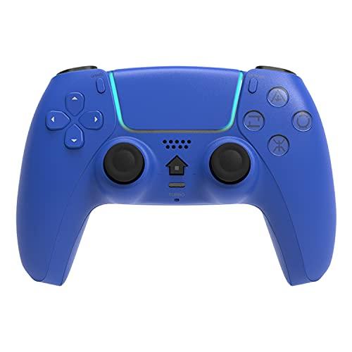 Mimall 【非純正品】 Dual-Sense用 ワイヤレスコントローラー Bluetooth PS4 コントローラー HD振動 青
