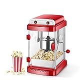 GUOJIN Palomitero, Popcorn Popper Machine con Recubrimiento Antiadherente, Alta Velocidad de Estallido, 3-5 Minutos para Preparar Una Olla de Palomitas, Adecuado para Noche de Cine y Navidad
