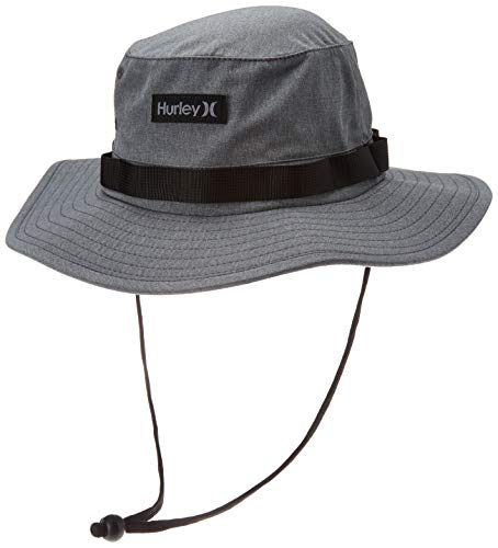 Hurley Men's Phantom Vagabond Elite Bucket Sun hat, Dark Smoke Grey, S-M