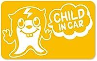 imoninn CHILD in car ステッカー 【マグネットタイプ】 No.64 ピースさん (黄色)