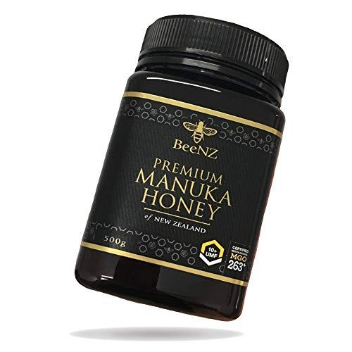 BeeNZ® - Premium Manuka Honig MGO 263+ (UMF10+) 500g aus Neuseeland - 100{b1d5c7e852a03b598b9bc10634e1772f2c76b70848f1a38d35f86318dcf05c62} reiner Manuka-Honig ohne Zusatzstoffe - Methylglyoxal Gehalt