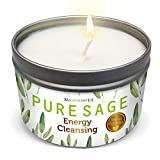 MAGNIFICENT 101 Pure White Sage Smudge Candle for House Energy Cleansing, Banishes Negative Energy I Purification and Chakra Healing - Natural Soy Wax Tin Candle (Pure White Sage, 6 oz)