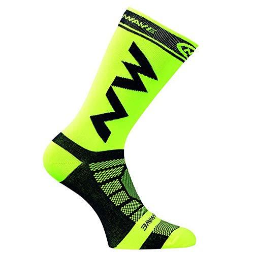 ClookYuan Calcetines Largos de compresión para Hombres Adultos Transpirables Calcetines de fútbol cálidos Baloncesto Deportes Antideslizante Ciclismo Escalada Correr Calcetines - Verde