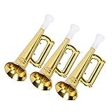 STOBOK 12 trompetas de plástico para cumpleaños de fetsa para niños (dorado)
