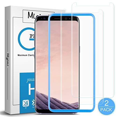 Migimi Protector Pantalla Samsung Galaxy S8, [2-Pack] Vidrio Templado 9H Dureza Anti-Huellas Dactilares, Alta Sensibilidad, Cristal Screen Protector para Galaxy S8 [Garantía de por Vida]