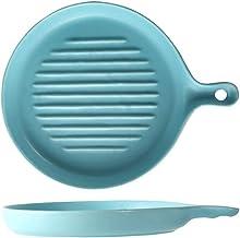 GPWDSN Non-Stick keramische ovenschaal, ronde keramische bakpan mat handvat Pan rechthoekige dessert bakken steak plaat sa...