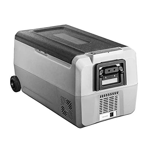 Bewinch Nevera Refrigerador Portátil para Automóviles De 36 L, Congelador para Camping con Zona De Almacenamiento Dual, -4 ℉ ~ 50 ℉, Frigorífico Congelador DC 12 / 24V, Puerto USB