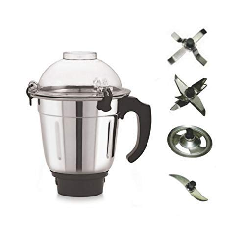 COOKWELL Multipurpose Mixer Grinder Jar with 4 Changeable Blades