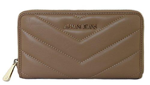 Armani Jeans Geldbörse Geldbeutel Portemonnaie im Geschenkbox 928032 kamel