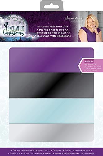 Crafter's Companion Sara handtekening betoverde Kerstmis-Luxe Matt Spiegel Kaart-24 Eenzijdige Vellen - A4, Multi, One Size