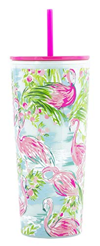 Lilly Pulitzer Tumbler with Straw Floridita One Size