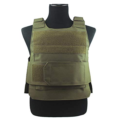 ThreeH Adjustable Tactical Vest Outdoor Training Protective Vest for Combat Airsof Paintball,Green