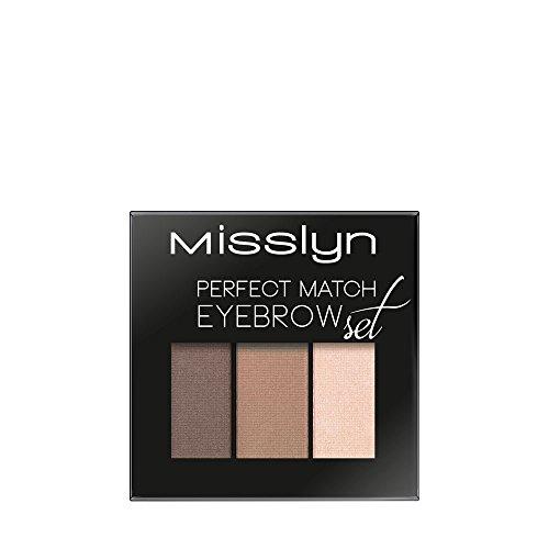 Misslyn Perfect Match Eyebrow Set Nr.8 chocolate shades, 1.2 g