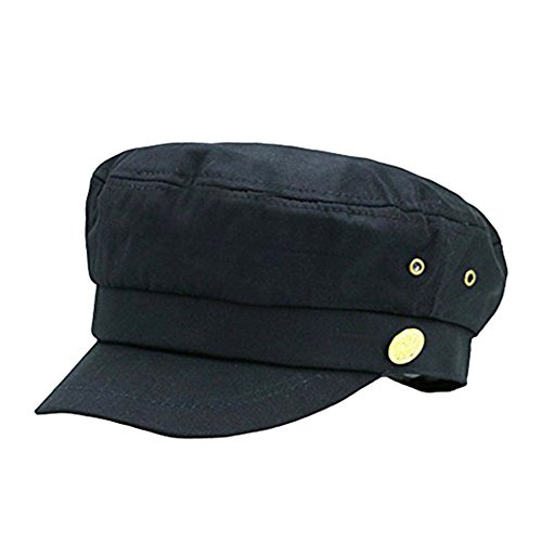 doublebulls hats Cerrado Gorras Militares Hombre Mujer Monocromático Admiral Marinero Capitán Sombreros Negro
